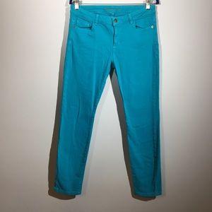 Michael Kors Size 8 Ocean Blue Skinny Jeans